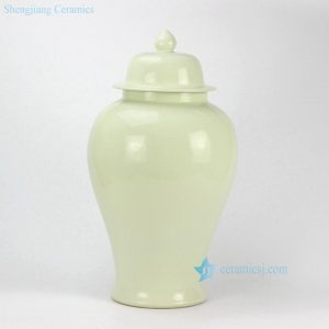 RYKB132-E Cream Ceramic Ginger Jar