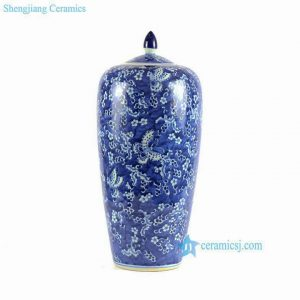 RYLU67-A-D Ceramic Blue and White large chinese ginger jar
