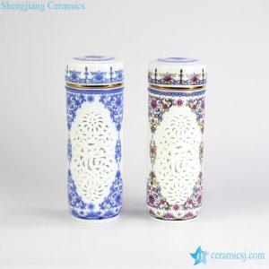 CBAJ01-D Blue and White Ceramic Round Tea Vacuum Cup