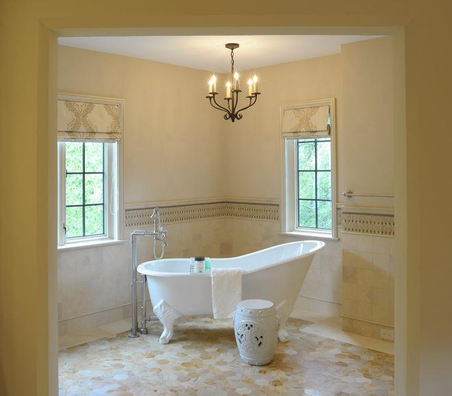 Transitional Bathroom by A. A. Luketic & Associates Inc.