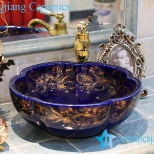 LT-1A1208 Jingdezhen art ceramic wash basin / unique bathroom sink