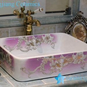 LT-1A2514 Jingdezhen art ceramic wash basin / unique bathroom sink