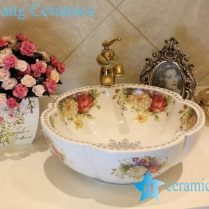 LT-1A5609 Jingdezhen art ceramic wash basin / unique bathroom sink
