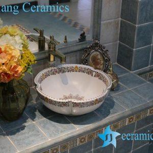 LT-1A8096 Jingdezhen art ceramic wash basin / unique bathroom sink