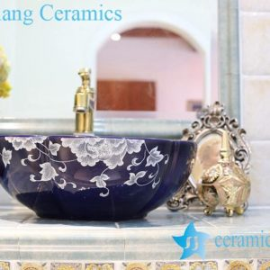 LT-1A8128 Jingdezhen art ceramic wash basin / unique bathroom sink