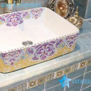 LT-1A8185 Jingdezhen art ceramic wash basin / unique bathroom sink