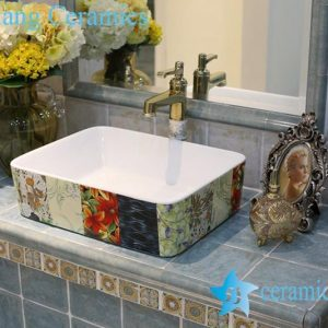 LT-1A8204 Jingdezhen art ceramic wash basin / unique bathroom sink
