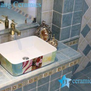 LT-1A8216 Jingdezhen art ceramic wash basin / unique bathroom sink