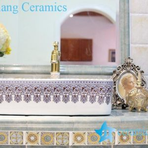 LT-1A8241 Jingdezhen art ceramic wash basin / unique bathroom sink