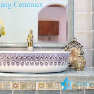 LT-1A8249 Jingdezhen art ceramic wash basin / unique bathroom sink