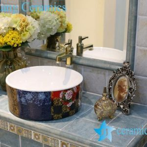 LT-1A8282 Jingdezhen art ceramic wash basin / unique bathroom sink