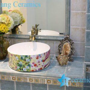 LT-1A8301 Jingdezhen art ceramic wash basin / unique bathroom sink