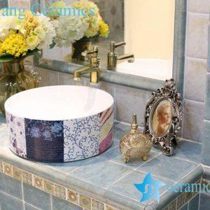LT-1A8306 Jingdezhen art ceramic wash basin / unique bathroom sink