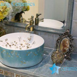 LT-1A8319 Jingdezhen art ceramic wash basin / unique bathroom sink