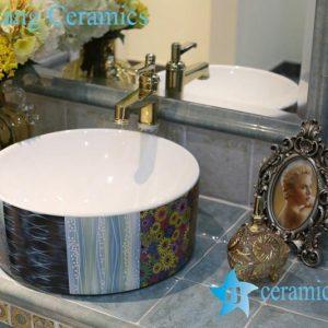 LT-1A8325 Jingdezhen art ceramic wash basin / unique bathroom sink