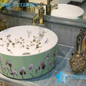 LT-1A8333 Jingdezhen art ceramic wash basin / unique bathroom sink