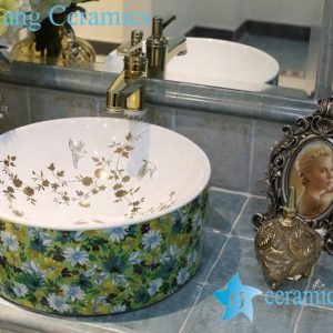 LT-1A8344 Jingdezhen art ceramic wash basin / unique bathroom sink