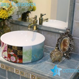 LT-1A8358 Jingdezhen art ceramic wash basin / unique bathroom sink