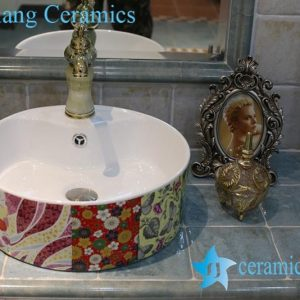 LT-1A8374 Jingdezhen art ceramic wash basin / unique bathroom sink