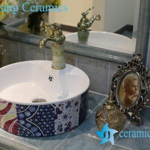 LT-1A8391 Jingdezhen art ceramic wash basin / unique bathroom sink