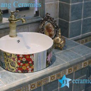 LT-1A8396 Jingdezhen art ceramic wash basin / unique bathroom sink