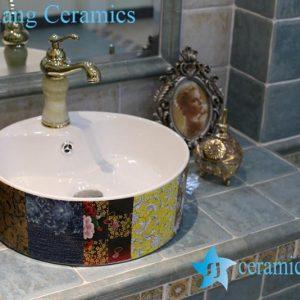 LT-1A8401 Jingdezhen art ceramic wash basin / unique bathroom sink