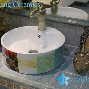 LT-1A8406 Jingdezhen art ceramic wash basin / unique bathroom sink