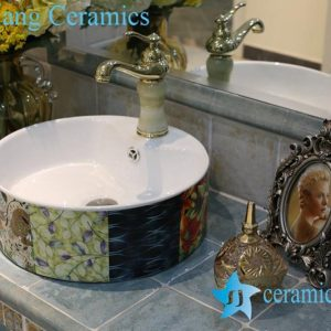 LT-1A8412 Jingdezhen art ceramic wash basin / unique bathroom sink