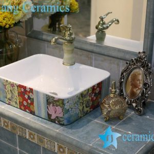 LT-1A8416 Jingdezhen art ceramic wash basin / unique bathroom sink
