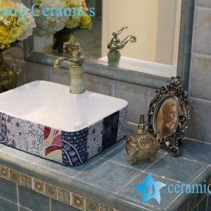 LT-1A8420 Jingdezhen art ceramic wash basin / unique bathroom sink
