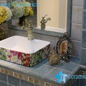 LT-1A8426 Jingdezhen art ceramic wash basin / unique bathroom sink