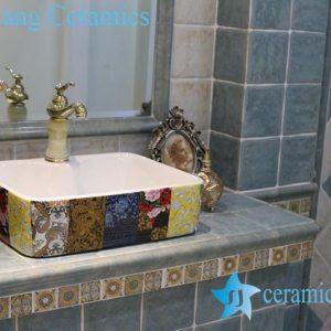 LT-1A8439 Jingdezhen art ceramic wash basin / unique bathroom sink
