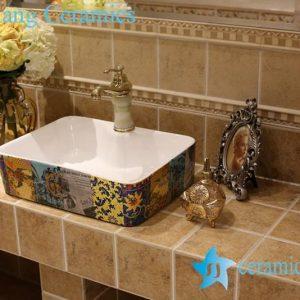 LT-1A8448 Jingdezhen art ceramic wash basin / unique bathroom sink