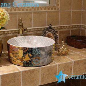 LT-1A8488 Jingdezhen art ceramic wash basin / unique bathroom sink