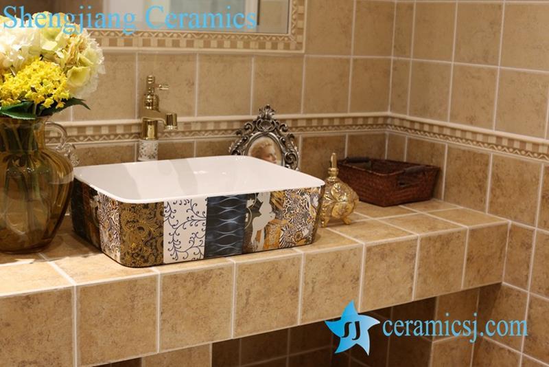 Jingdezhen China Art Ceramic Bathroom Counter Top Washbasin Is A Brand New  Kind Of Stylish Ceramic Bathroom Over Counter Sink, Which Combines  Contemporary ...