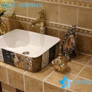 LT-1A8494 Jingdezhen art ceramic wash basin / unique bathroom sink
