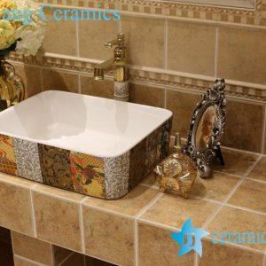 LT-1A8499 Jingdezhen art ceramic wash basin / unique bathroom sink