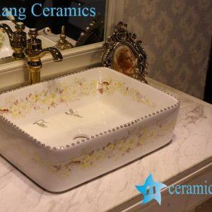 LT-1A8512 Jingdezhen art ceramic wash basin / unique bathroom sink