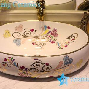 LT-1A8520 Jingdezhen art ceramic wash basin / unique bathroom sink