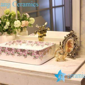 LT-1A8529 Jingdezhen art ceramic wash basin / unique bathroom sink
