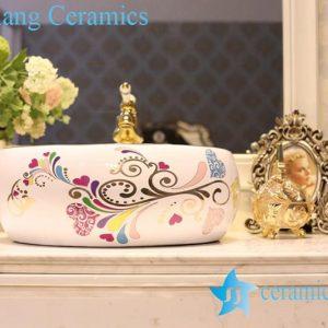 LT-1A8541 Jingdezhen art ceramic wash basin / unique bathroom sink