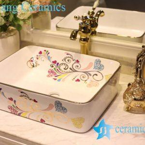 LT-1A8549 Jingdezhen art ceramic wash basin / unique bathroom sink