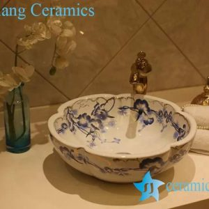 LT-20160(1) Jingdezhen art ceramic wash basin / unique bathroom sink