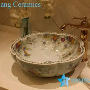 LT-20160 (2) Jingdezhen art ceramic wash basin / unique bathroom sink