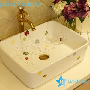 LT-X1A1326 Jingdezhen China art ceramic bathroom counter top wash basin