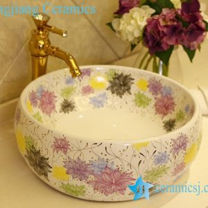 LT-X1A1342 Jingdezhen China art ceramic bathroom counter top washbasin