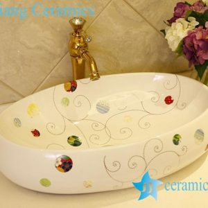 LT-X1A1365 Jingdezhen China art ceramic bathroom counter top wash basin