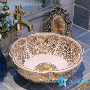 LT-X1A3521 Jingdezhen art ceramic wash basin / unique bathroom sink