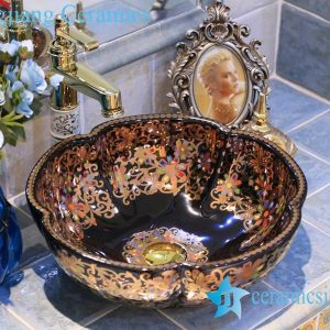 LT-X1A3567 Jingdezhen art ceramic wash basin / unique bathroom sink
