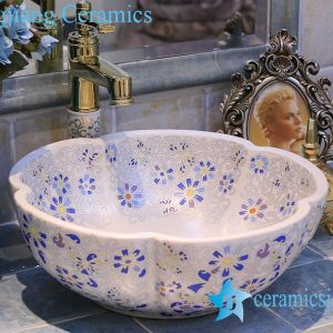 LT-X1A3609 Jingdezhen China art ceramic bathroom counter top wash basin